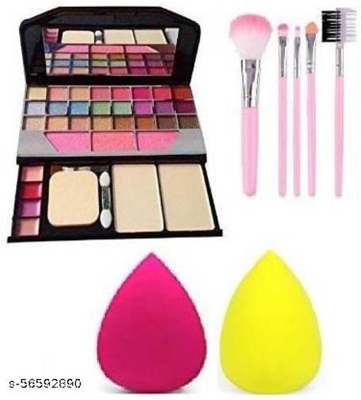 TYA Gen-II 6155 Color Icon Makeup kit + MENOW Blender Puff +5PCS Brush Set
