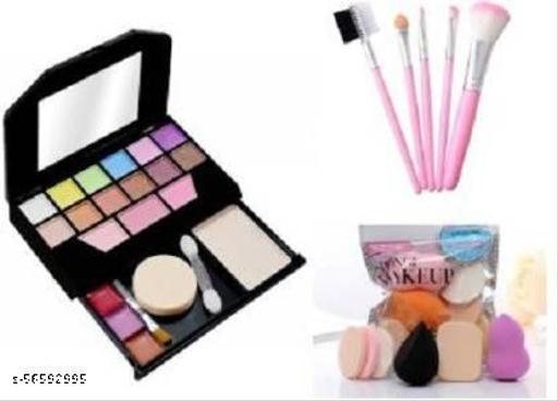 TYA Gen-II color icon mini makeup kit + 5 Piece Brush Set + Me Now 6 Makeup Sponges Set