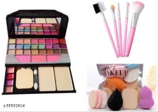 TYA Gen-II Color Icon Premium Makeup Kit + Premium Makeup Brushes + Me Now 6 Piece Makeup Sponges