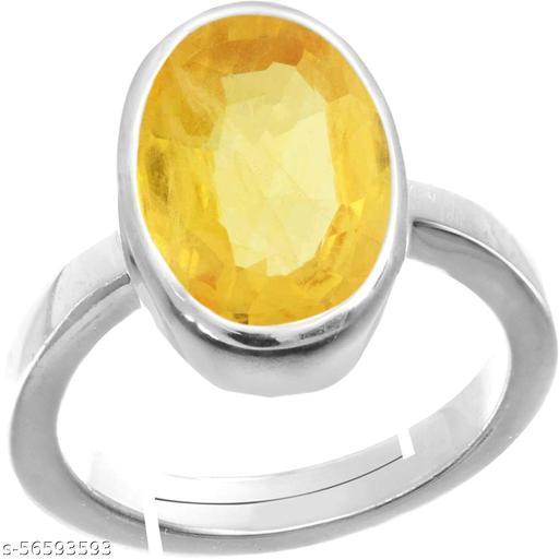 7.25 Ratti Yellow Sapphire/Pukhraj Ring for Astrological Purpose Panchdhatu ring for Men & Women