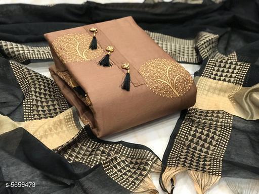 Attractive Satin Cotton Suits & Dress Materials