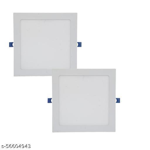 D'Mak 18W LED Square False Ceiling Panel Light for POP Color-White (Pack of-2,White)