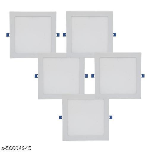 D'Mak 18W LED Square False Ceiling Panel Light for POP Color-White (Pack of-5,White)