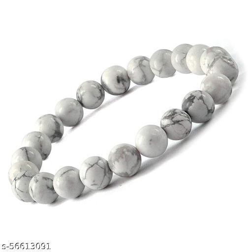 GrayWolf Natural Howlite Beads Bracelet 8MM for Men & Women