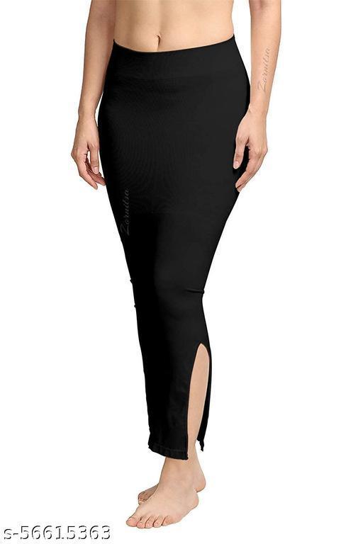 Marbie Women Shapewear Black Color Saree Peticoat