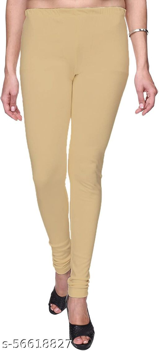 Lycra Blended Plain Jumbo Size Color Churidar Leggings