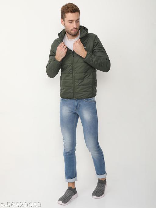 Men's Hooded Polyfill Jackets