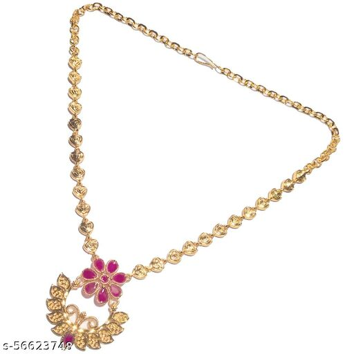 Designer Gold Plated Stoned Necklace  Jewellery