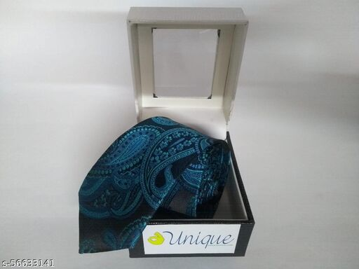 Unique Microfiber Premium Teal Blue colored Necktie for Men