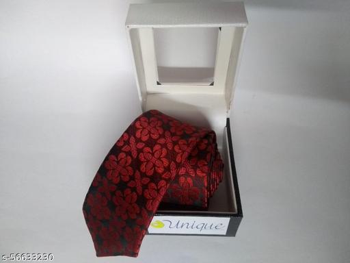 Unique Microfiber Premium Red colored Necktie for Men