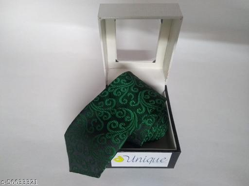 Unique Microfiber Premium Green Colored Necktie for Men
