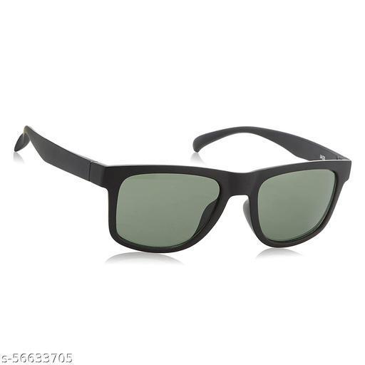 Momentum Trending Square Shape Green Sunglasses For Boys | Black Frame | MM-79