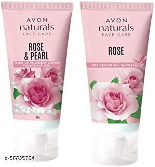 avon rose day and rose powdery cream