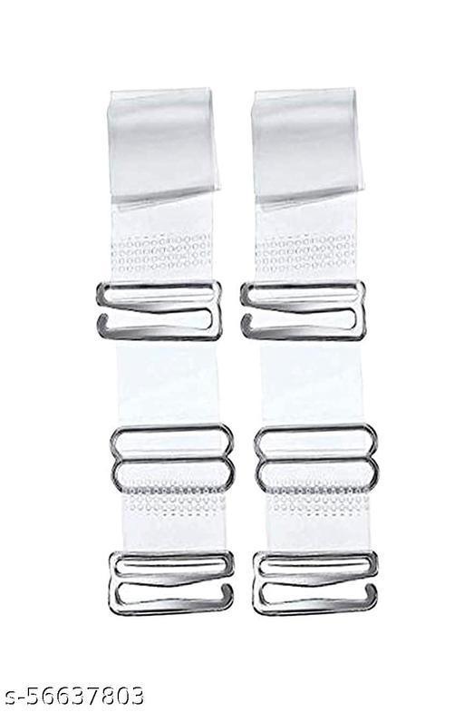Transparent Strap (Pack of 1 set) / Bra Strap / Free Size Bra Strap / Transparent Bra Strap / Women's Latex Fabric Adjustable Bra Straps