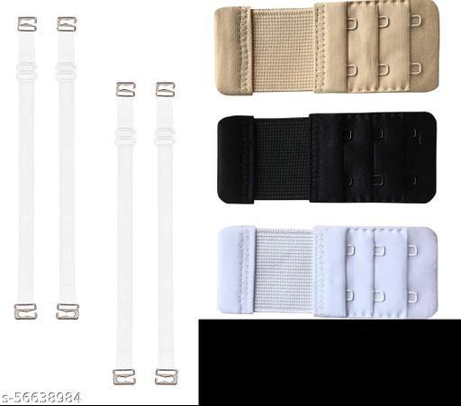 Transparent Strap (Pack of 2 set) / Bra Strap / Free Size Bra Strap / Transparent Bra Strap / Women's Latex Fabric Adjustable Bra Straps