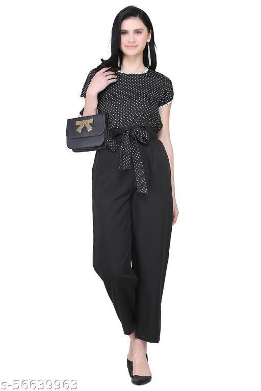 Polka Dot Women's Black Jumpsuit