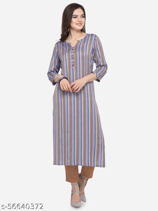 Holister Women's South Cotton A-Line Print Straight Kurta