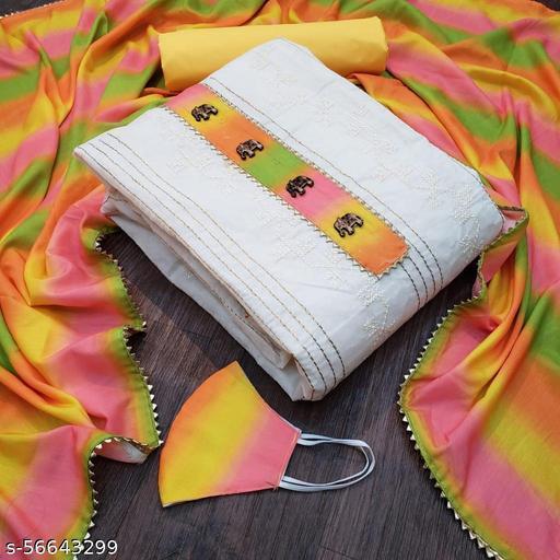 Bhavani Creation Women's Un Stitched Cotton dress Material