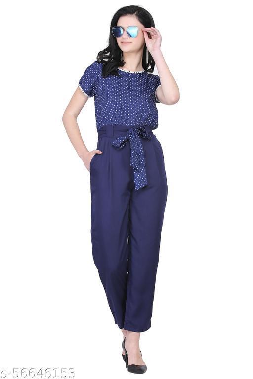 Stylist women polka print jumpsuit