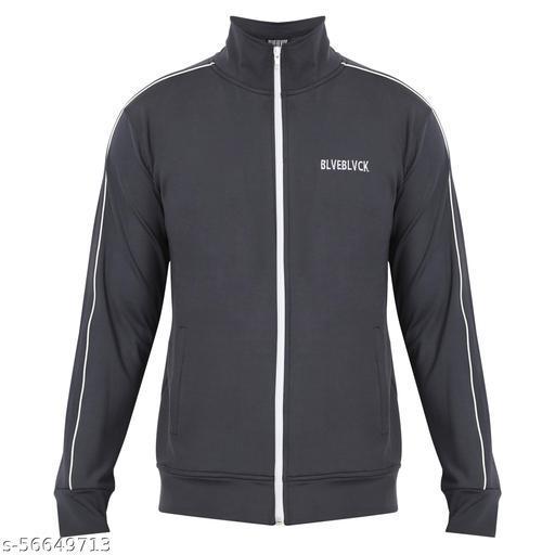 BLVEBLVCK Trandy Grey Regular Fit Winter Jacket For Mens