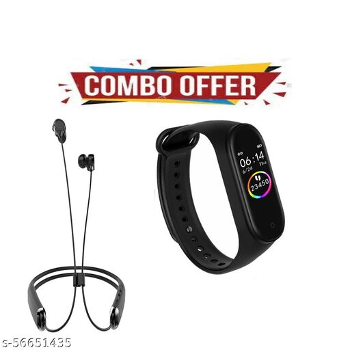 COMBO PACK OF M4 BAND AND ROCKERZ 325 NECKBAND PACK ON ONE BEST OFFER..
