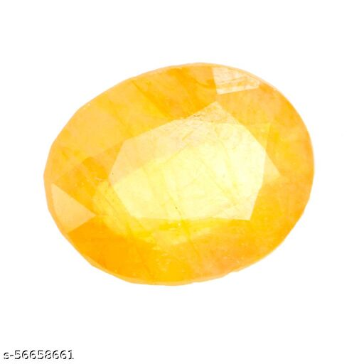 4.30 Carat Natural Certified Ceylon Yellow Sapphire Gemstone