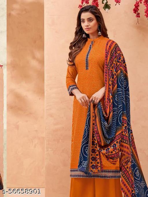Pure Wool Pashmina Suit