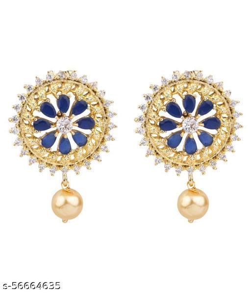 American Diamond Women Earring Stud Earring Diwali For Girl Best For Gift Birthday/Anniversary/engagement/Etc.