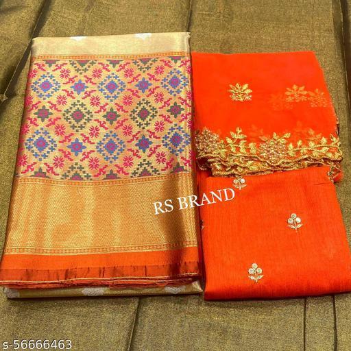 VAIDRAJ HALF SAREE LEHGHA CHOLI(Pure tissue paitani weaving Lehangas ,with contrast blouse and contrast cut work voni)