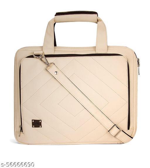 Enew - Enew Signature Series Leatherette Laptop Bag (IVORY)