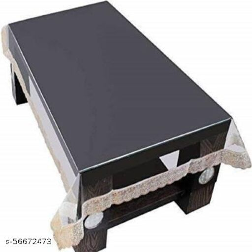 A CUBE LUXURY SOLUTIONS 6 Seater 3D Transparent Dining Table Cover, PVC