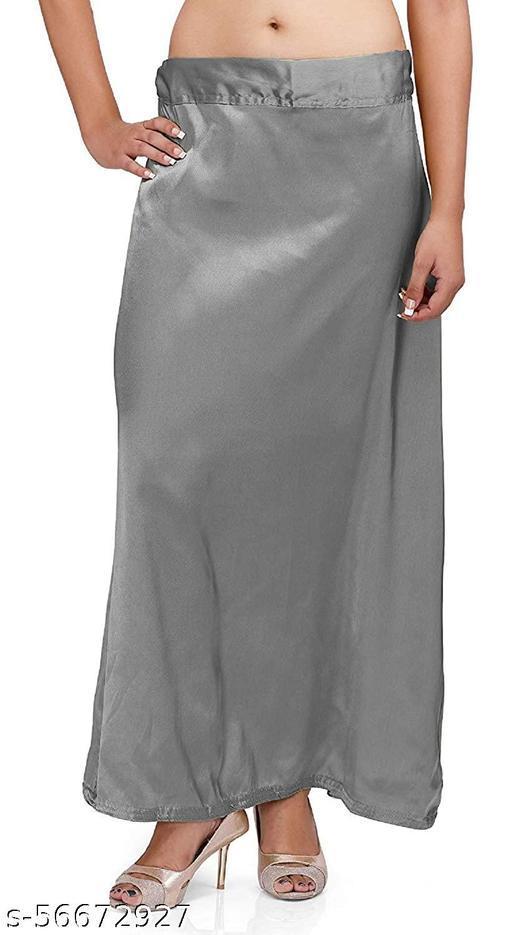 women's Satin Petticoat Fancy  Free Size
