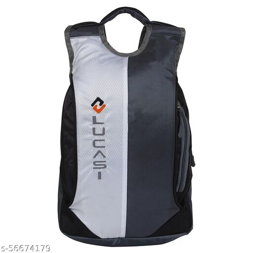 Lucasi Casual Light Weight Grey White Backpack Bag 17 Liters 2 Compartments