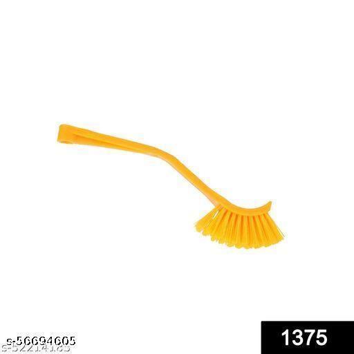 Plastic Wash Basin/Toilet Seat Cleaning Brush (Multicolour)