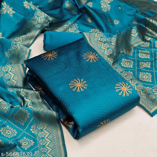 Adesh Enterprise Unstitched Banarasi silk salwar suit & Dress