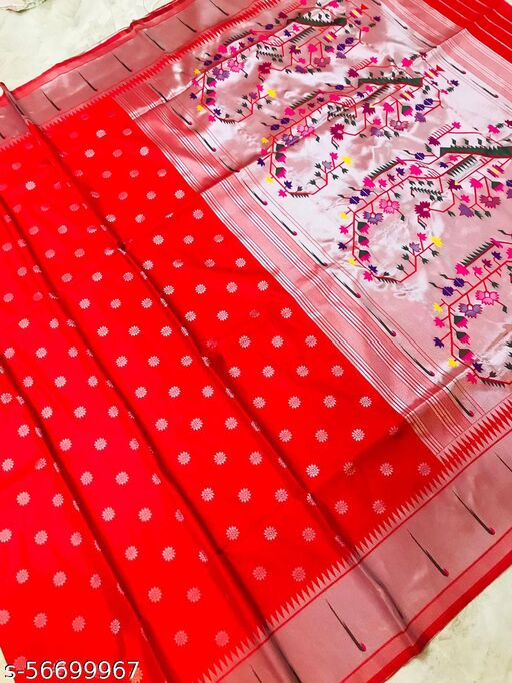 DP Tex Present Beautiful Soft Pure Silk Paithani Saree With Beautiful Weaving Rich Pallu With Meenakari Work