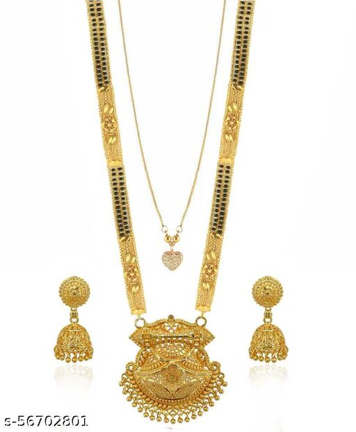 Fancy Gold-Plated Mangalsutra (m211)