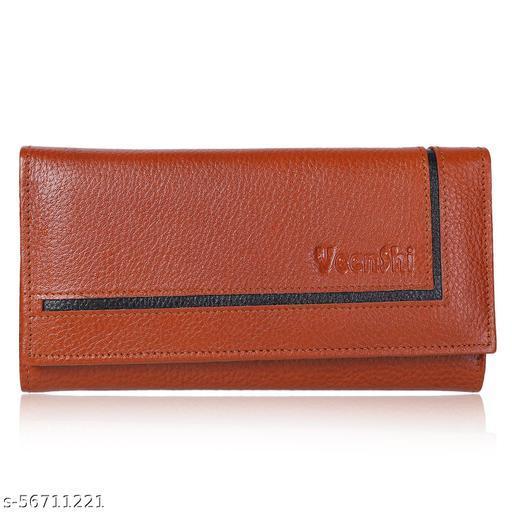 VEENSHI Women's Leather Wallet - Beige