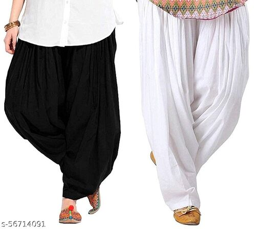 COTTON SALWAR COMBO BLACK AND WHITE