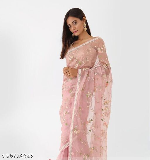 Women's Georgette Saree with Blouse