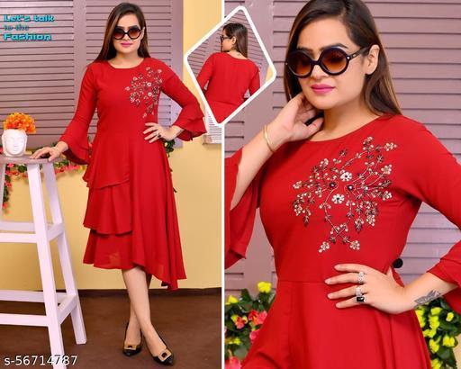 Stylish Women Fancy Midi Dress