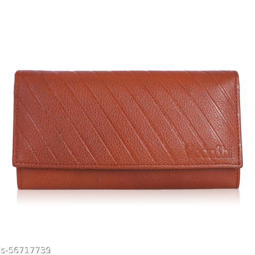 VEENSHI Women Leather Wallet - Tan