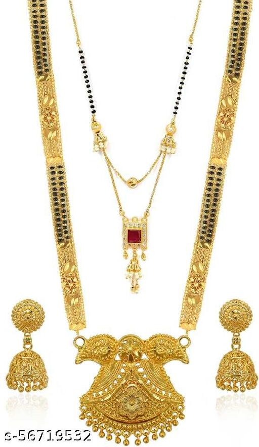 Fancy Gold-Plated Mangalsutra (m214)