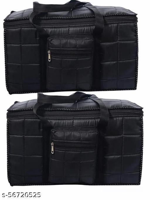 Pretty sales Jumbo Fabric Travel Duffel Storage Bag (Black)