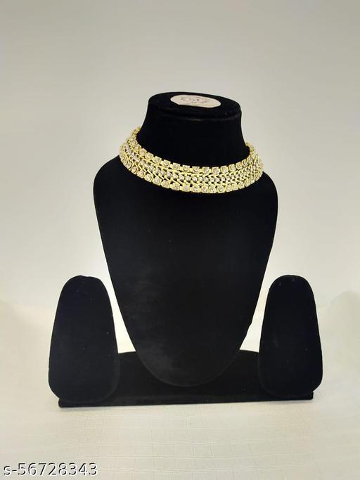 Elite Bejeweled Women Necklaces & Chainschoker set