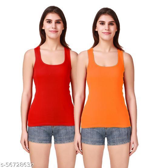 Doloom16® Camisole Racerback Tank Top / Vest Sando Inner wear for Girls and Women (Pack of 2) Blue & Rani