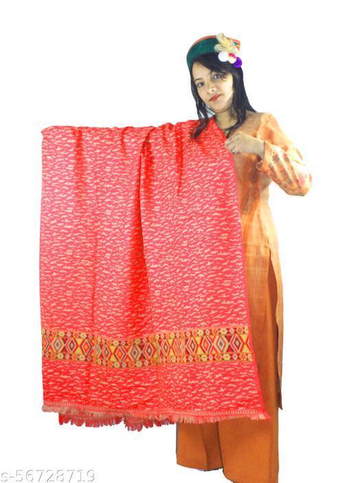 ARUNA KULLU HANDLOOM HANDCRAFTED PURE WOOL KULLU SHAWL FOR WOMEN AND GIRLS