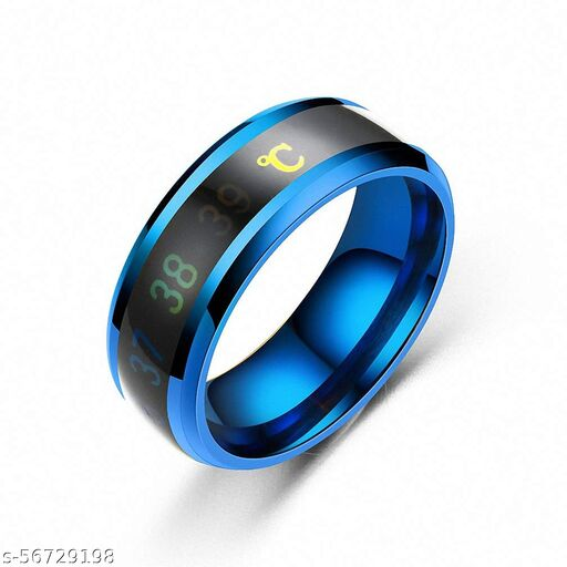 Intelligent Smart Body Temperature Monitor Latest Fashion Collections Blue Color Ring