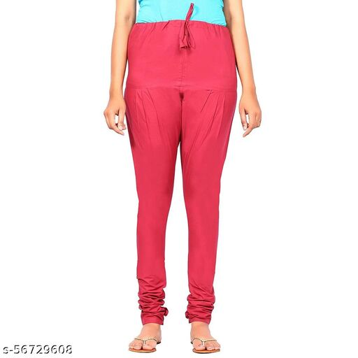 Sharthak-100% Pure Cotton  Light Weight and comfortab  Plain/Solid Gathering  Multi-Color Women's Gathering Pants (Rope Type) Chudidar Bottom wear (casual,formal, Traditional, festive wear)