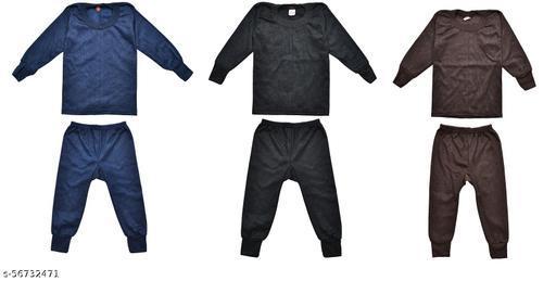 Ldhsati Kids Infants New Born Baby Boys Girls Unisex Winter Thermal Body Warm top and Pyjama Set Multicolor